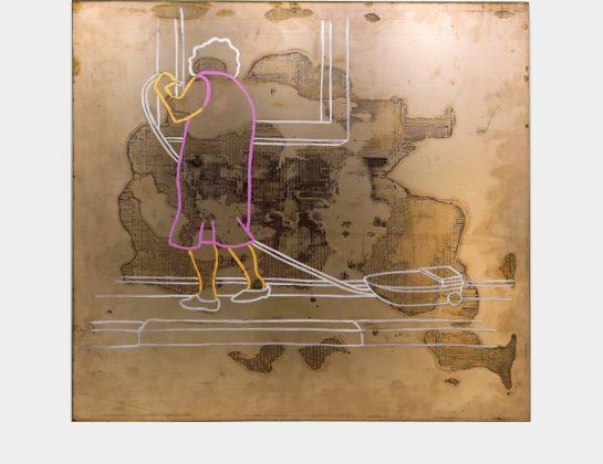 Nominiert: Andrea Legde, Episodisches Gedächtnis, Mischtechnik / Kupfer, 53 x 57 cm
