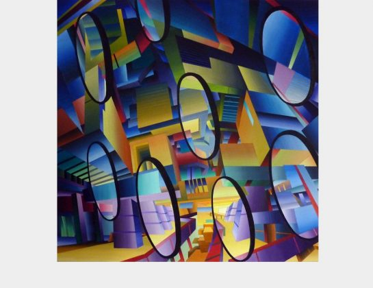 Matthias Keller, see through, Acryl / Lw., 100 x 100 cm