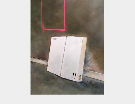 Marie Althöfer, Schöne Aussicht mit Bauanleitung, Mischtechnik / Lw., 100 x 80 cm