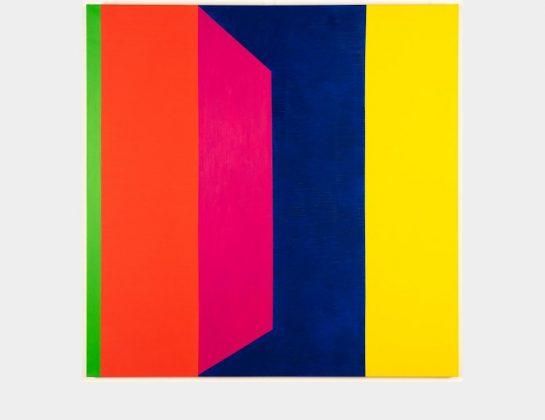 Elisabeth Nüchtern, Ein Fenster geht auf, Öl / Lw., 120 x 120 cm