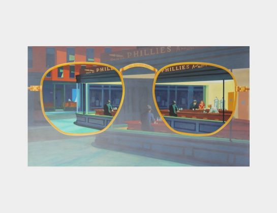 Theodor Speckert, I can see clearly now, Mr. Hopper, Acryl / Lw., 80 145 cm