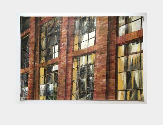 Nominiert: Dorothee von Harsdorf, Werkstattfenster, Acryl / Papier, 70 x 100 cm