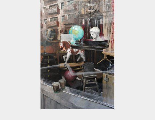 Manuel Kolip, Schaufenster, Mischtechnik / Holz, 125 x 85 cm
