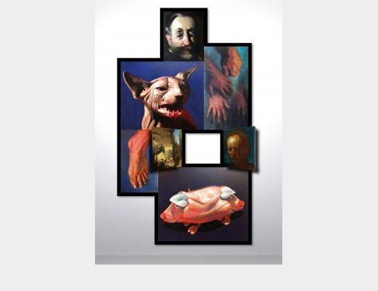 Dietmar Gross, Selbst, Öl / Lw., 160 x 100 cm