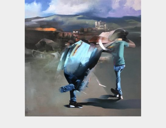 "Adrian DeDea, ""La citadelle"", Öl / Lw., 100 x 100 cm"