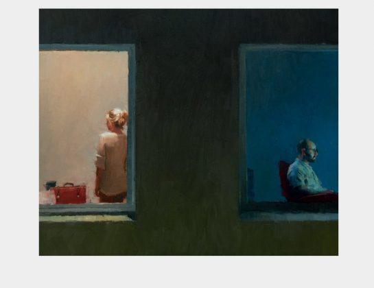 Torsten Wolber, Dazwischen, Öl / Lw., Allaprima, 50 x 60 cm