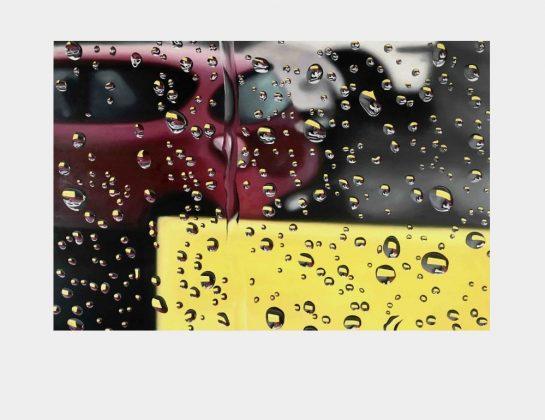 Kristina Kanders, Parking Lot 2020, Öl auf Holz, 80 x 120 cm