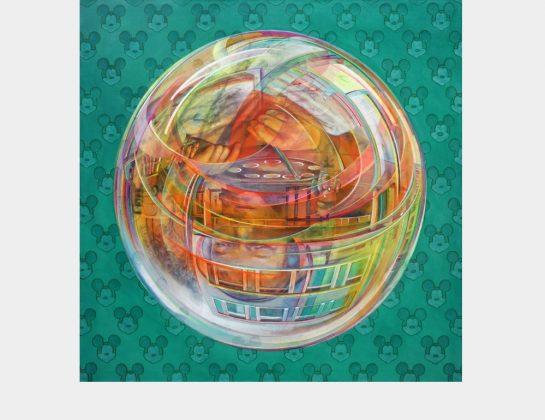 """Ursula Donn, """"Mama, wo hat die Welt den Kopf?"""" II, Acryl / Lw., 120 x 120 cm"""