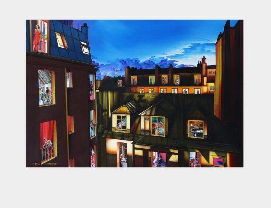 Karlheinz Treiber, La Maison de la Poésie, Acryl / Lw., 104 x 154 cm