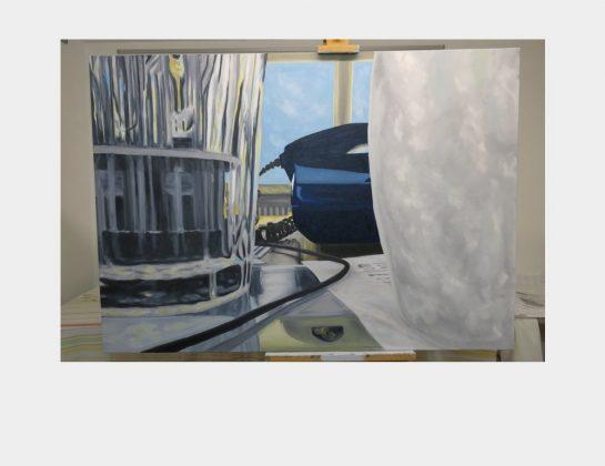 Christian Paulsen, HomeOffice, Öl / Lw., 100 x 140 cm