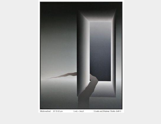 Ursula u. Dietmar Thiele-Zoll, Blickwechsel, Acryl / Lw., 83 x 63 cm