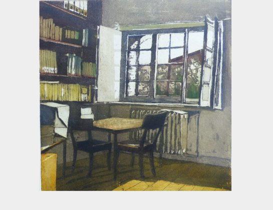 Christel Verhalen, Das Archiv, 2 Platten Druck mit Aquatinta, 30 x 30 cm