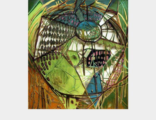 Ivo Kiefer, a good place to dissolve, Öl / Lw., Cutout, 120 x 110 cm