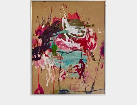 Jutta Siebert, View into the backyard of my memories, Malerei, 90 x 70 cm