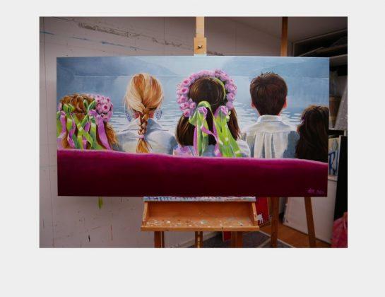 Holde Klis, next generation, Acryl / Lw., 84 x 165 cm