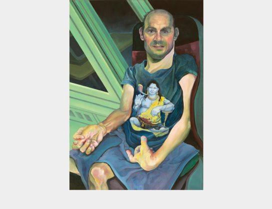Fjodor Krasnikow, Der Mann im Rollstuhl, Öl / Lw., 100 x 70 cm