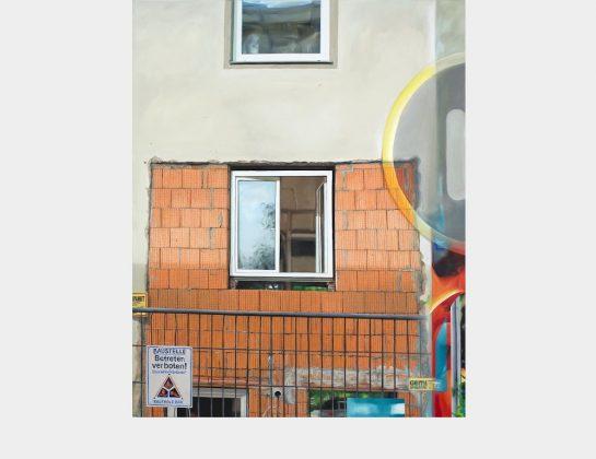 1. Preis: Gunnar Becker, Fassade 72, Öl / Lw., 125 x 100 cm